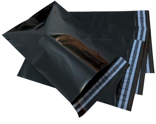 Svarta postorderpåsar mailingbags i 10 storlekar! Från 27 öre påsen!