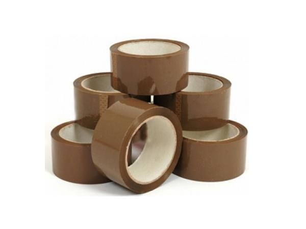 Packtejp klar och brun 48 mm x 66 meter 5,5kr rullen! Packtejp hållare 39kr