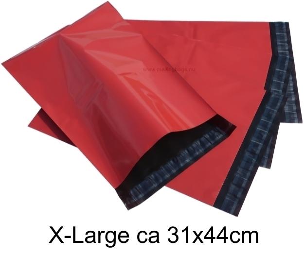 Röda postorderpåsar mailingbags i 4 storlekar! Från 25 öre påsen!