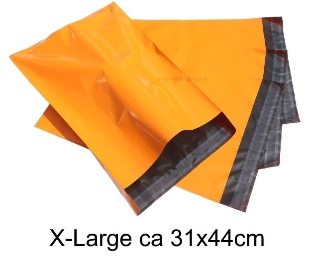 Oranga postorderpåsar mailingbags i 4 storlekar! Från 25 öre påsen!