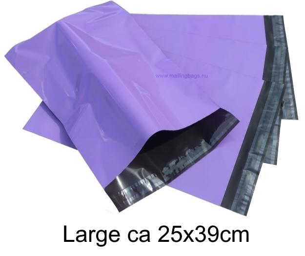 Lila postorderpåsar mailingbags i 9 storlekar! Från 25 öre påsen!