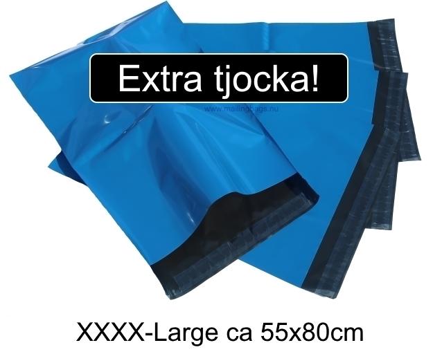 Blåa postorderpåsar extra tjocka i 5 storlekar! Från 1,29kr påsen!