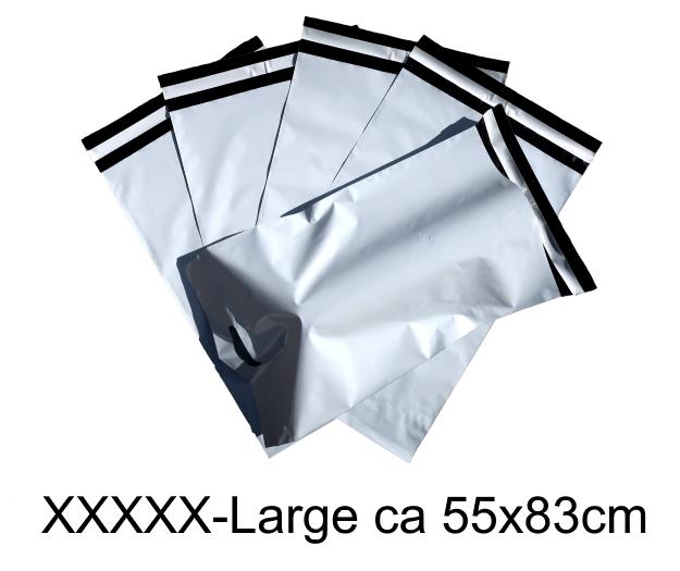 Med handtag! Vita Postorderpåsar mailingbags med handtag i 6 storlekar!