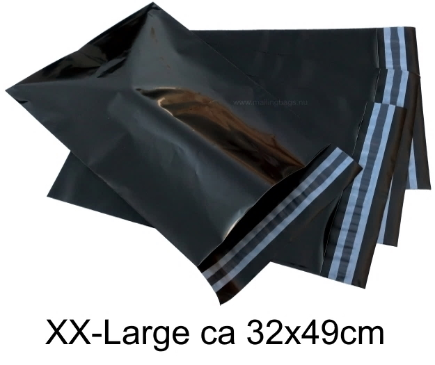 Svarta postorderpåsar mailingbags i 8 storlekar! Från 19 öre påsen!