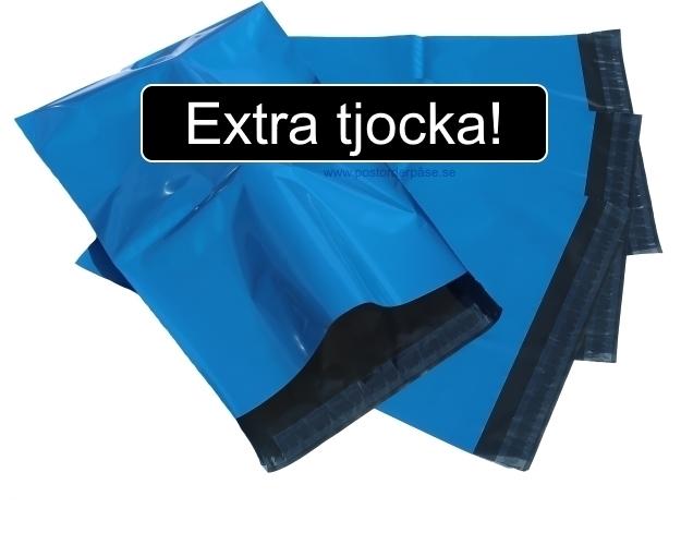 Blåa postorderpåsar extra tjocka i 6 storlekar! Från 0,95kr påsen!