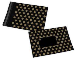 Polka Dot postorderpåsar mailingbags i 5 storlekar! Från 35 öre påsen!
