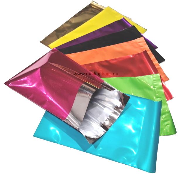 Metallic Postorderpåsar 3 storlekar 9 färger.