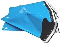 Baby blå postorderpåsar mailingbags i 4 storlekar! Från 18 öre påsen!