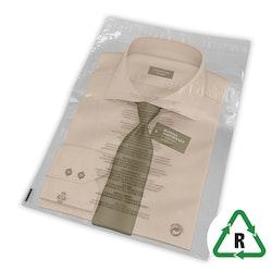 Genomskinliga Postorderpåsar återförslutningsbara i 2 storlekar