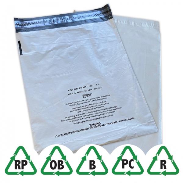 Grå oxo-biodegradable Eco Postorderpåsar mailingbags 4 storlekar