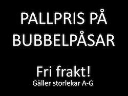 Pallpris bubbelpåsar. Från 45 öre! Kanonkvalité!