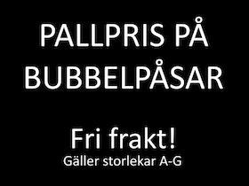 Pallpris bubbelpåsar. Från 50 öre! Kanonkvalité!