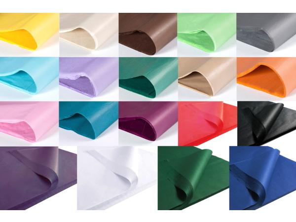 Silkespapper i 19 olika färger