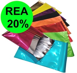 Metallic Postorderpåsar 3 storlekar 9 färger. REA 20%!