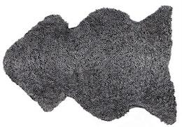 Korthårigt Fårskinn Grå grafit 100x60 cm
