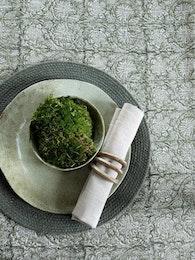 Chamois Duk Paradise Linen Green