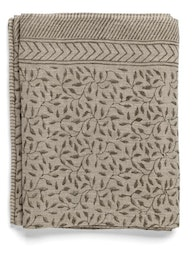 Chamois Duk Leaf Linen Steel Grey