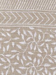 Chamois Duk Leaf Linen White