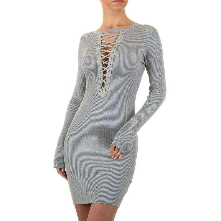 The Zig zag dress! Grå