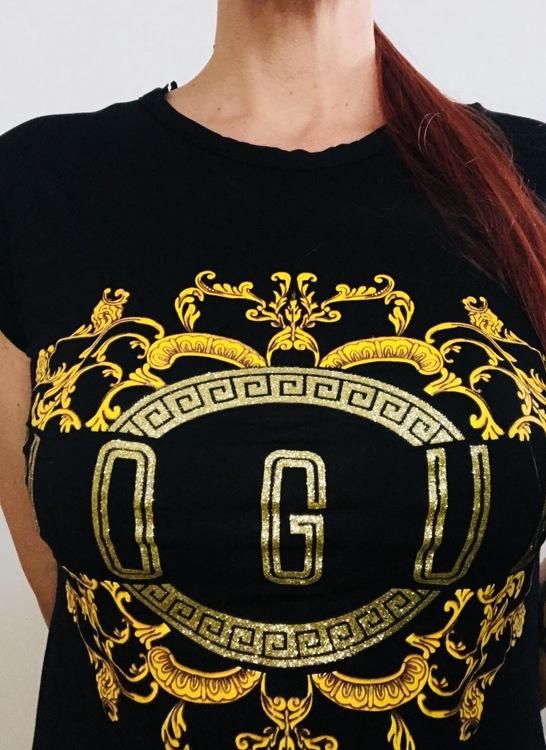 Vogue luxury all black & gold t-shirt! Sista exemplaret