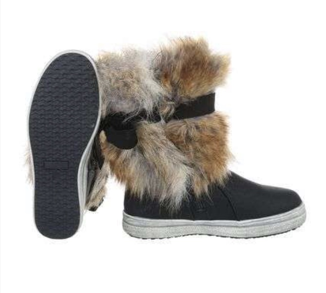 Bring the winter on  faux fur boots!