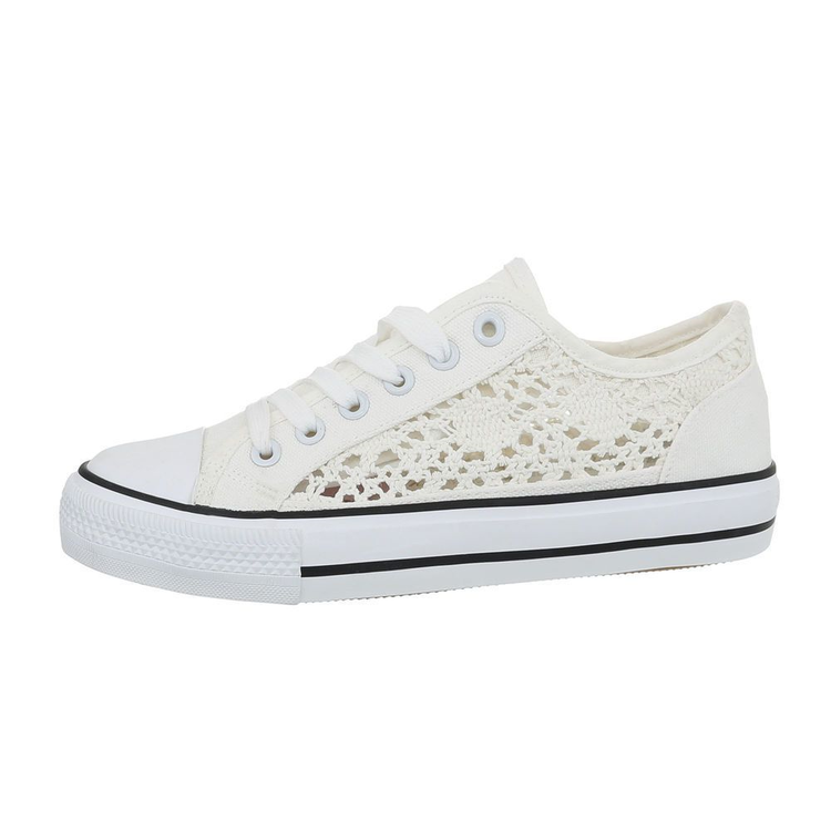 Summer laced sneakers, white