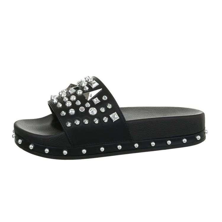 Why so studded sandal,svart