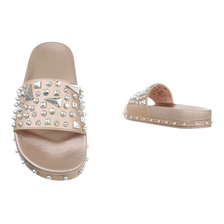 Why so studded sandal GOLD