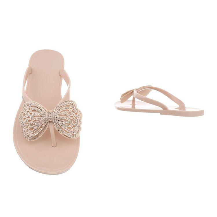 Pink butterfly sandal