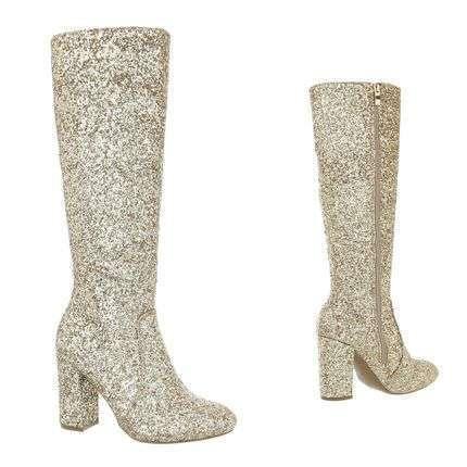 Golden glam boots