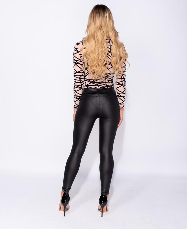 Glossy leggings