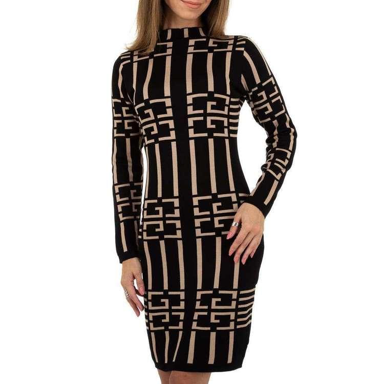 Fashion designer knitted dress, black