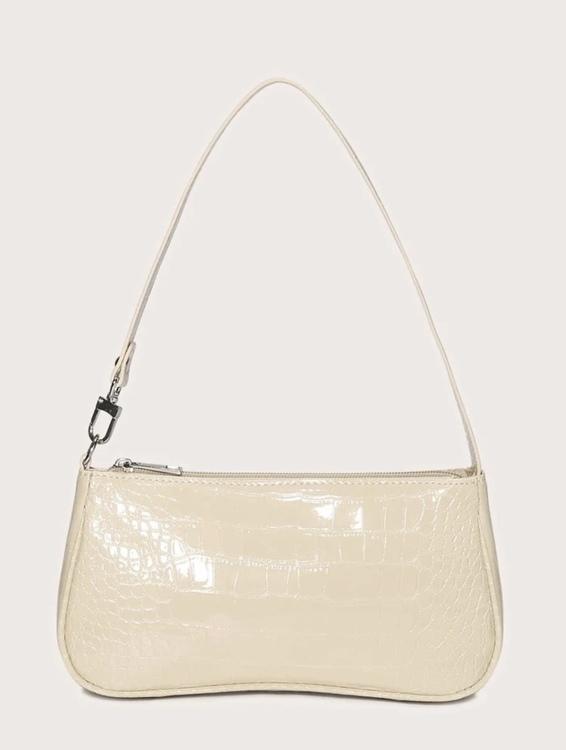 Cream croco Lindsey bag