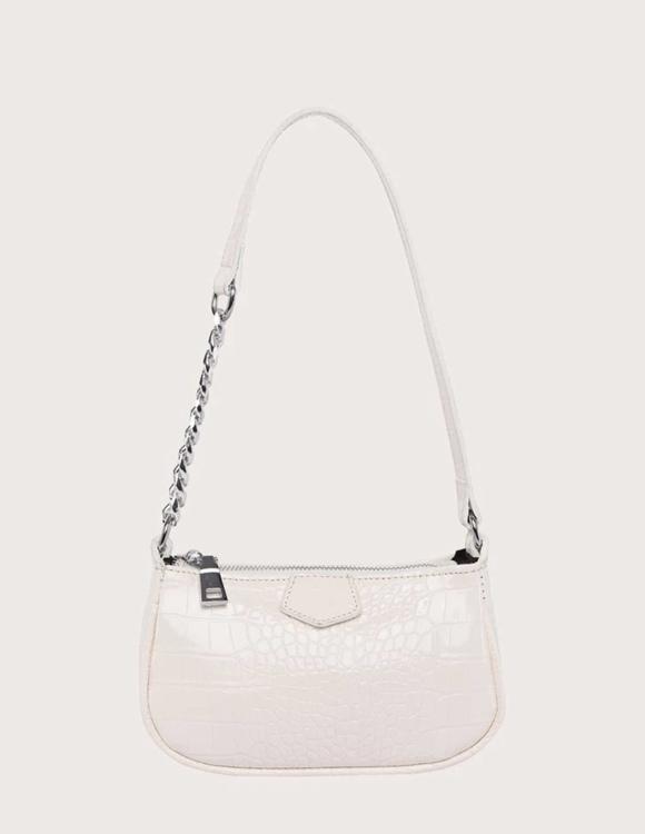 Cremevit designad croco bag
