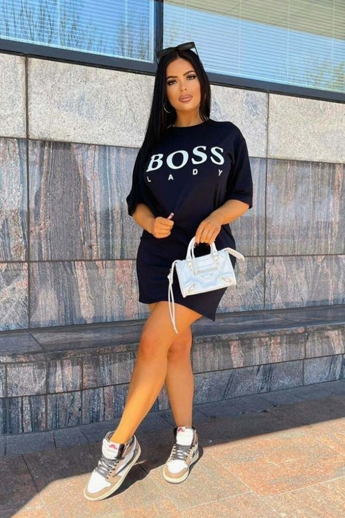 BOSS LADY T-shirt dress