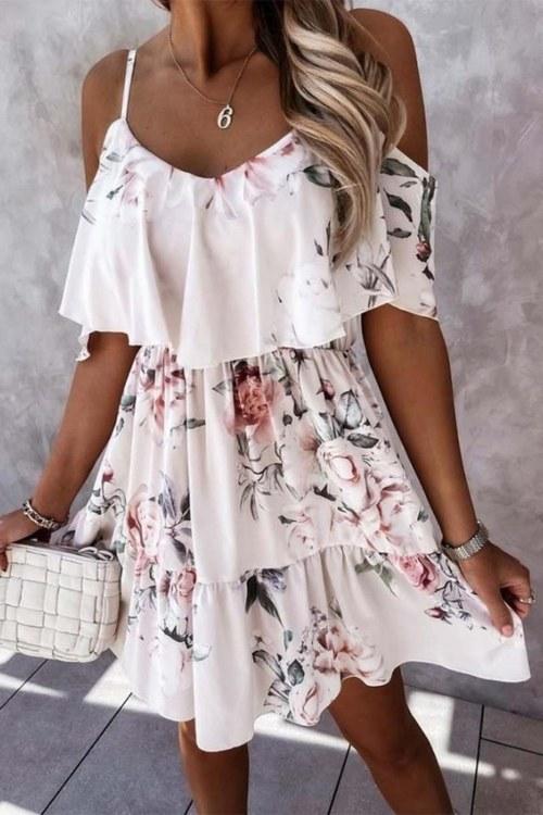 Flora blommig klänning