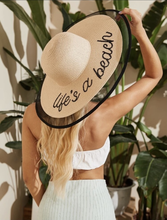 Life is a beach hat