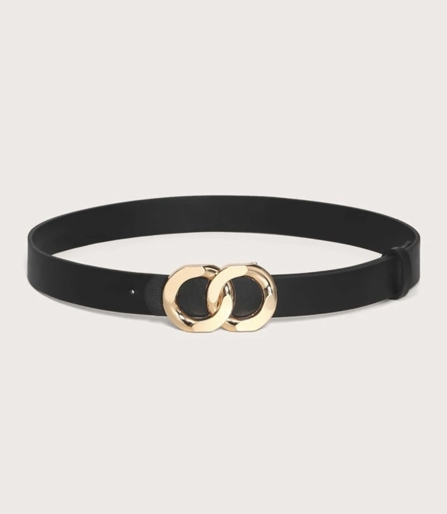 Black chained belt