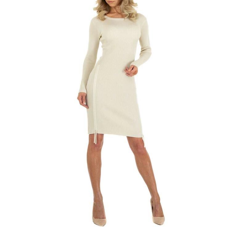 Cremevit finstickad klänning