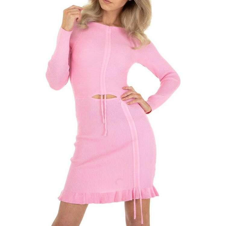 Rose mini knitted dress