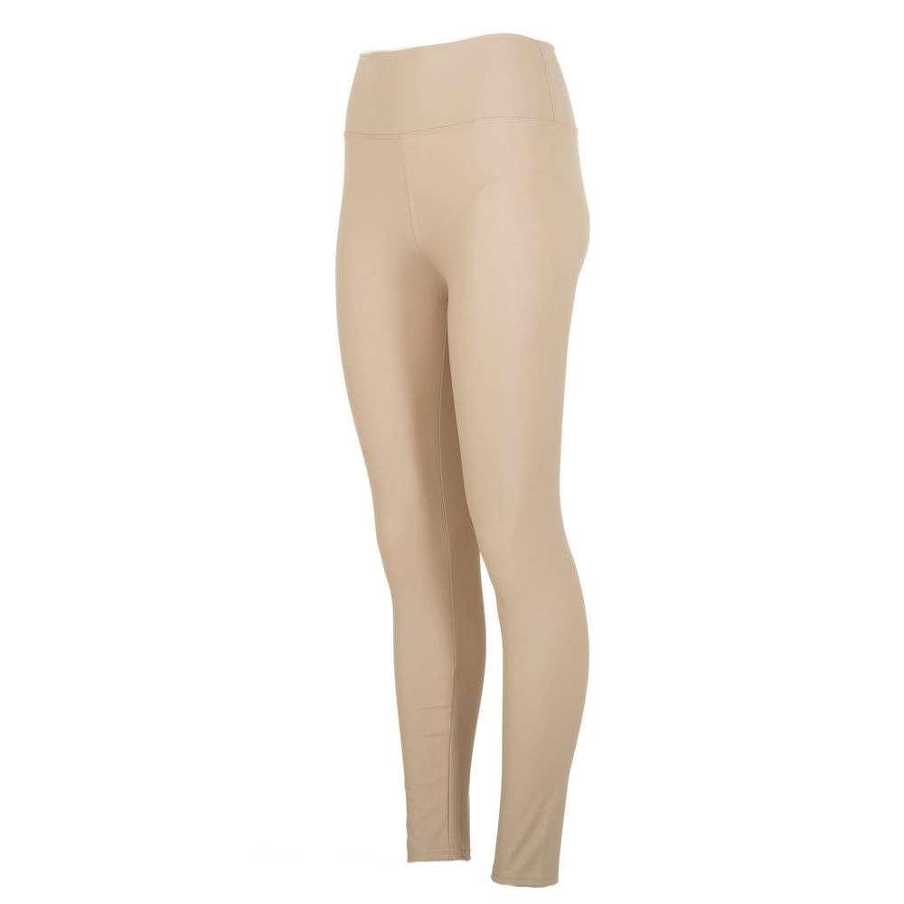 Beige leggings i lädermaterial från Von Fashion