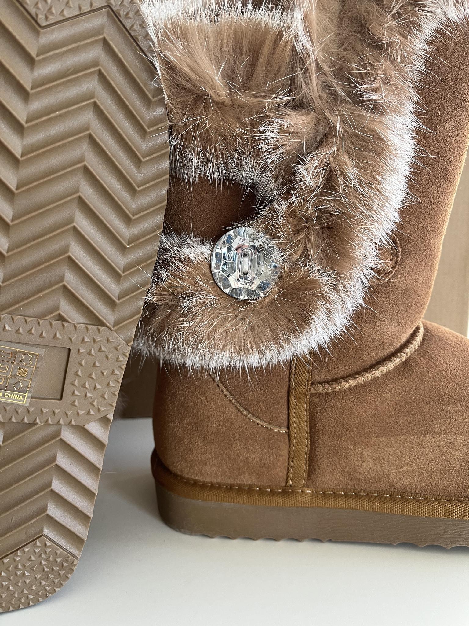 Luxury original fur & mocca boot!