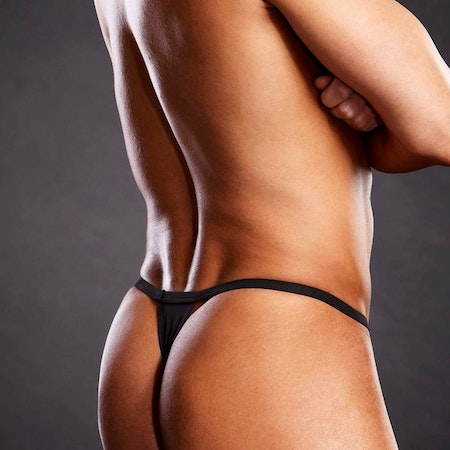 Black T-back Thong L/XL