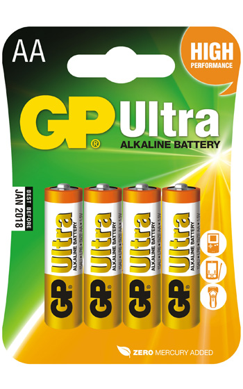 GP LR6 Ultra Alkaline 4-pack