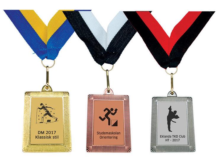 Medalj rektangulär