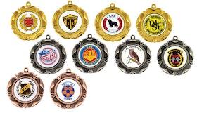 Medalj med sublimerat motiv
