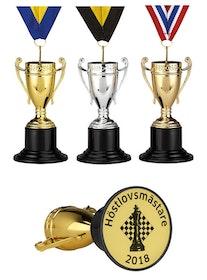 Medalj pokalformad
