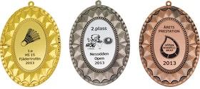 Medalj oval