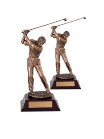 Golf statyett spelare