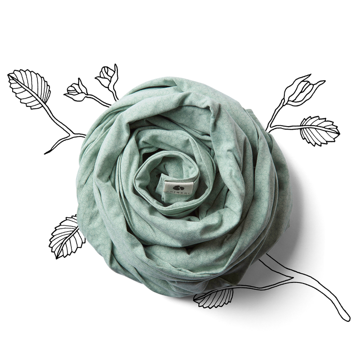 Coracor Origami Star Green Baby wrap